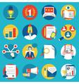 Set of management human resources vector image
