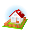 small house vector image