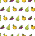 seamless harvest pattern vector image
