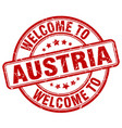welcome to austria vector image
