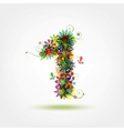 One floral number for your design vector image vector image