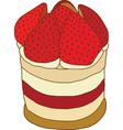 Strawberry and cream shortcake vector image