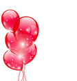 Flying red balloons isolated on white background vector image