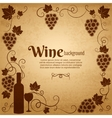 Wine and grapes frame with central copyspace vector image