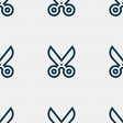 scissors icon sign Seamless pattern with geometric vector image
