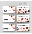 Gift coupon discount card template with DNA vector image