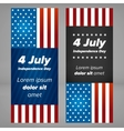 USA Independence day banners vector image