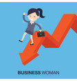 businesswomanman on falling down vector image