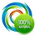 Green eco concept - natural vector image