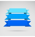 Infographic 3D blue ribbons vector image