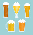 jug and glass of beer collection vector image