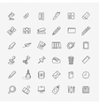 Outline web icon set - office stationery vector image