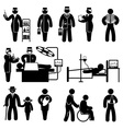 people medicine icons vector image