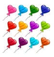 Big set with balloon in form heart vector image