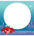 Crab with white blank vector image