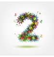 Two floral number for your design vector image vector image