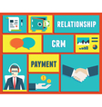 Customer relationship management service vector image