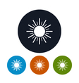 Icon sun with rays vector image vector image