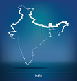 Doodle Map of India vector image