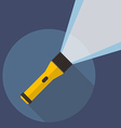 Flashlight flat icon vector image