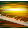 abstract green blur music background with piano vector image