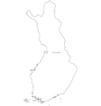 Black White Finland Outline Map vector image vector image
