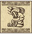 Aztec Motif Head Background vector image vector image