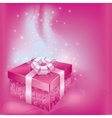 Festive card with gift box vector image vector image