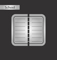 black and white style icon notebook vector image