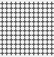 grid of black leafs seamless pattern background vector image