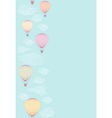 Seamless side border made of balloons vector image