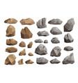 stone rock rockstone mountain or rocky vector image