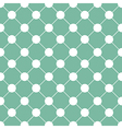 White Polka dot Chess Board Grid Green vector image
