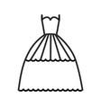 Bridal evening dress line icon sig vector image