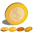 set of money dollar vector image