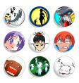 anime badges vector image