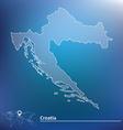 Map of Croatia vector image vector image