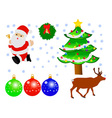 christmas decoration vs vector image