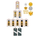 Insignia the Imperial Military Medical Academy vector image