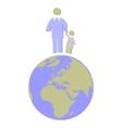 Earth globe set 011 vector image