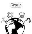 earth planet climate design vector image