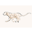 lioness hunting vector image