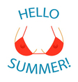 T shirt typography graphics Hello summer Sexy bust vector image