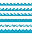 Water waves symbols set vector image