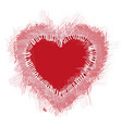 with a red valentine heart vector image