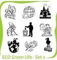 ECO - Green Life - set 2 vector image vector image
