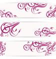 Website header set with beautiful floral design vector image