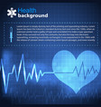 health and treatment blue background vector image