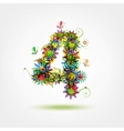 Four floral number for your design vector image vector image