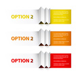 Set of Colorful Sample option boxes vector image